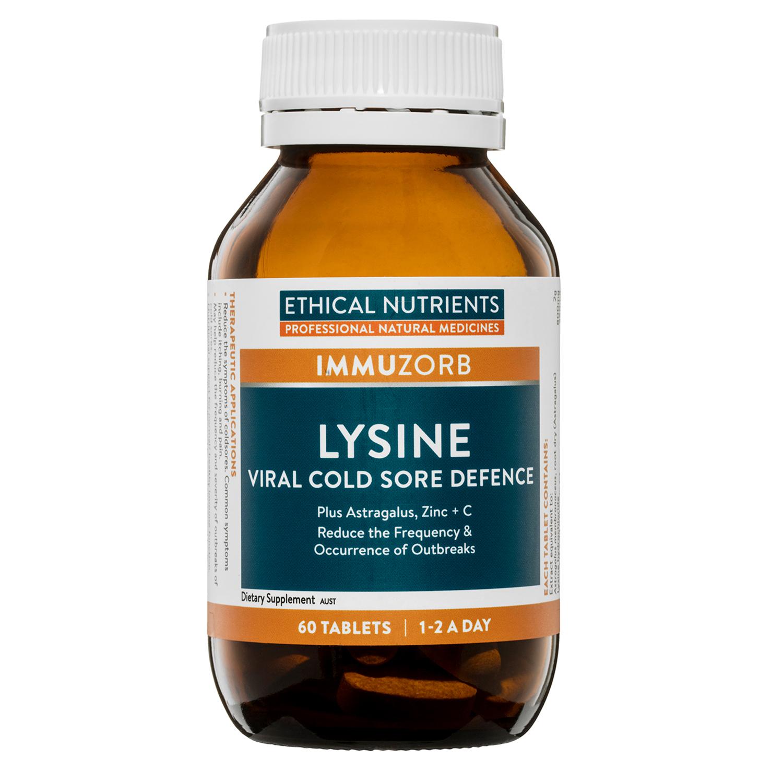 IMMUZORB Lysine Viral Cold Sore Defence 60 Tablets